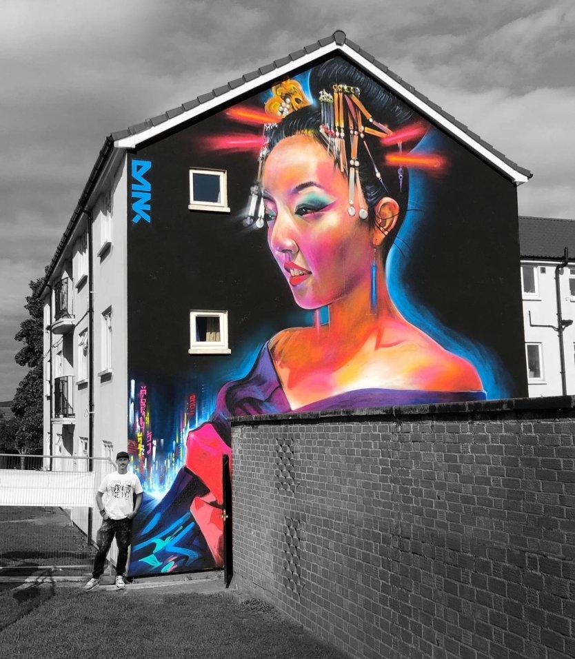 Dan Kitchener mural for Cheltenham Paint Festival 2020