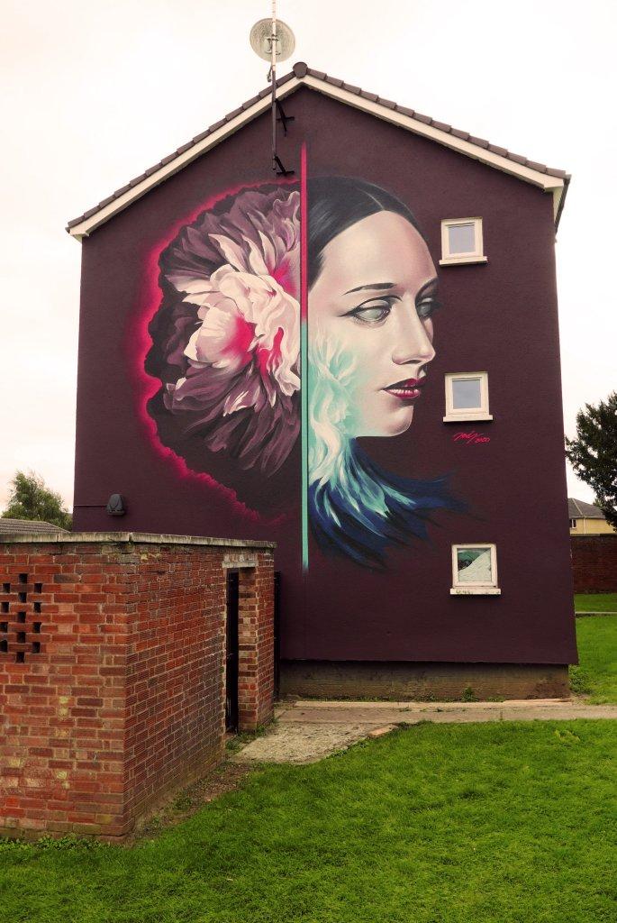 Jody mural for Cheltenham Paint Festival 2020