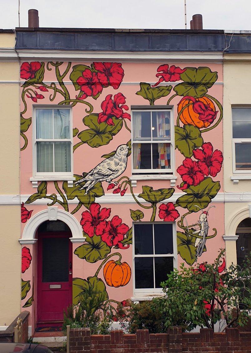 Mural by Lucas Antics for the Cheltenham Paint Festival 2020