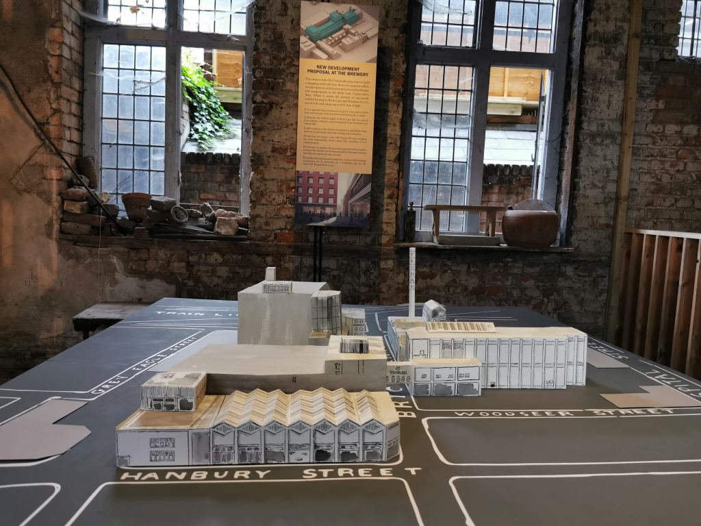 Model of the old truman brewery complex by Sebastian Harding