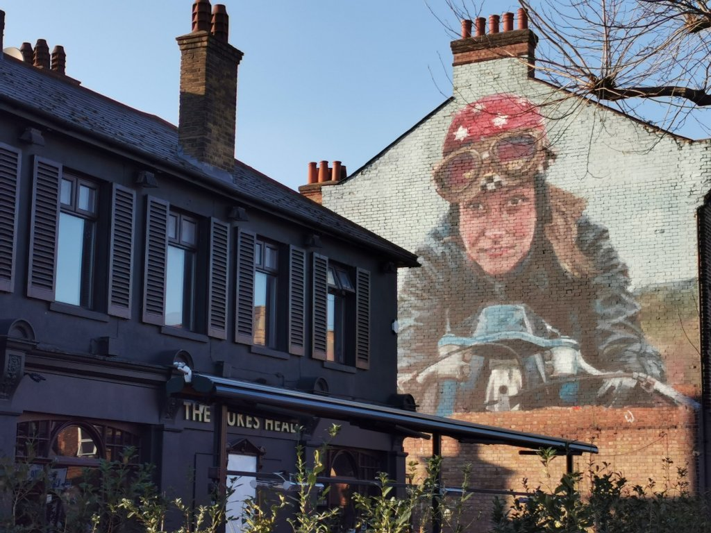 Street Art Mural by Helen Bur in Walthamstow