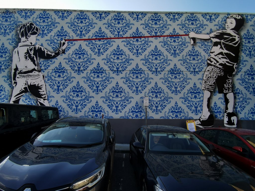 Dotmasters mural in Ilford next to the Kenneth More Theatre
