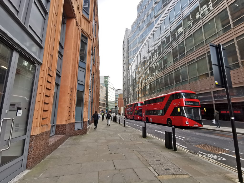 modern day Appold Street follows the line of the Walbrook River
