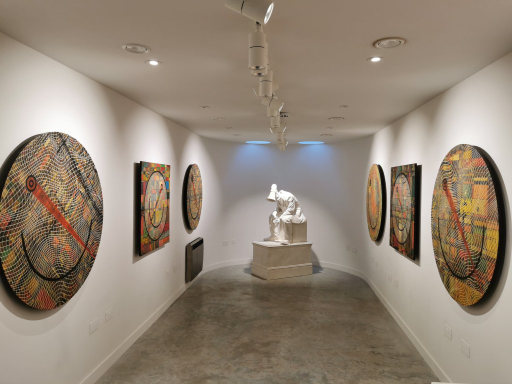 Inside Hugo Farmer's the Thirteenth Stroke exhibition