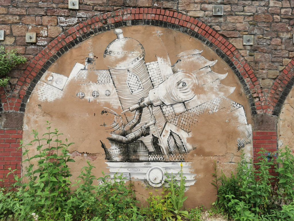 Phlegm mural slowly disappeared in Rotherham