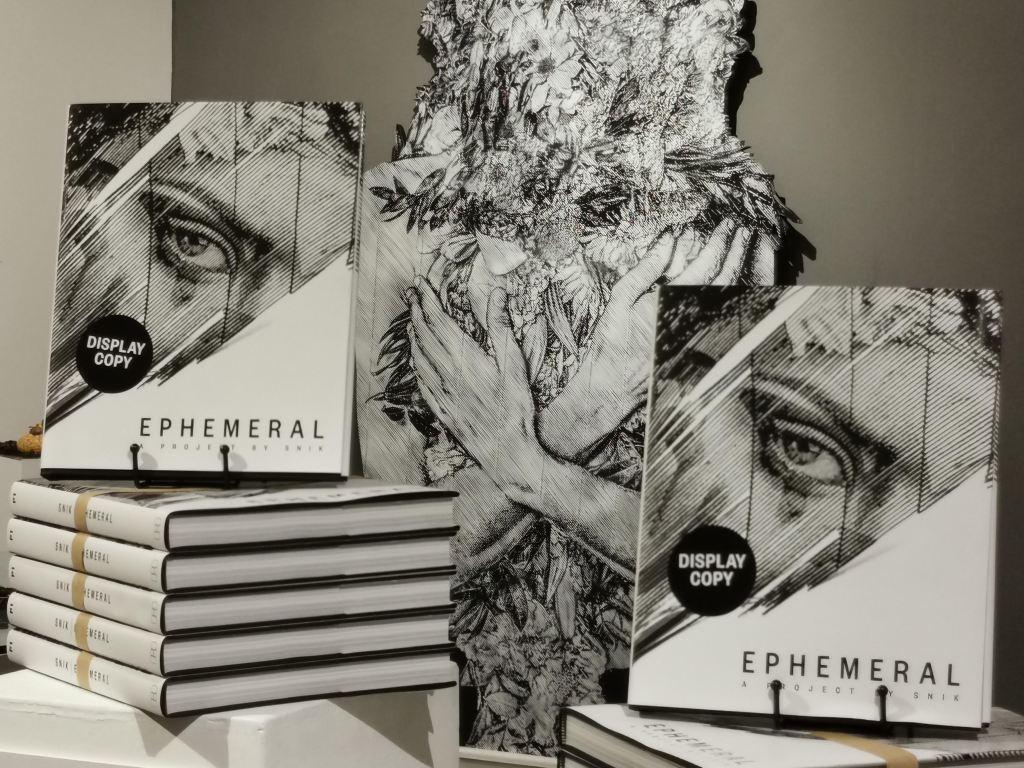 Book display showing Ephemeral by Snik