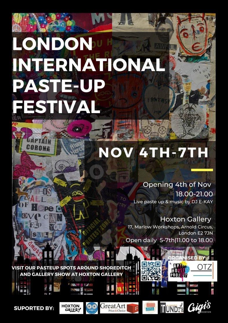 Poster for the International paste up festival