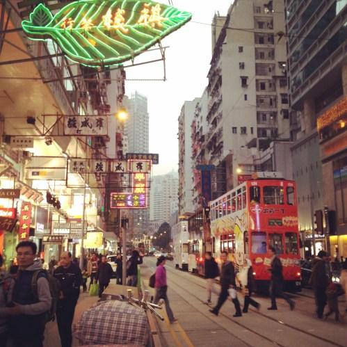 Busy Street in HK