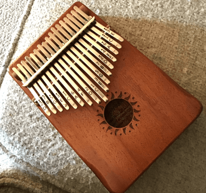 Photo of Patti's Kalimba instrument