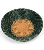 Green hand-woven pine straw basket
