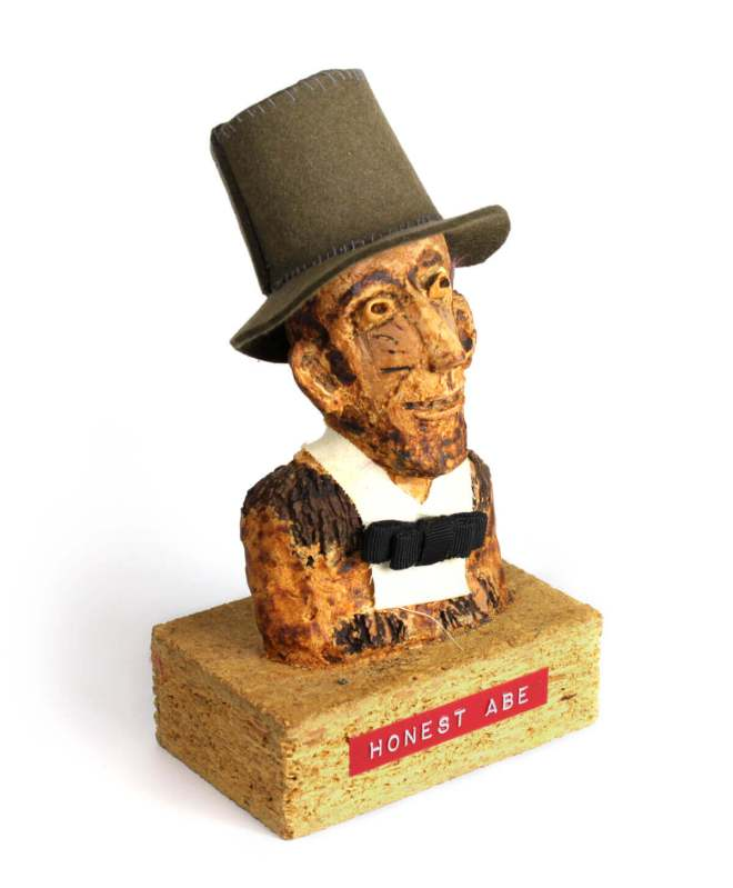 Photo of Honest Abe walnut sculpture