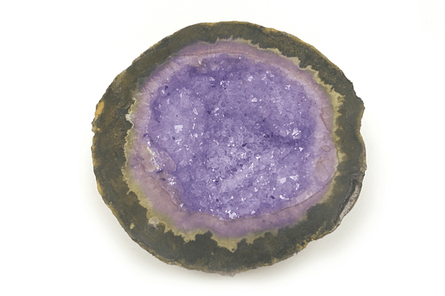 image of interior of a geode rock