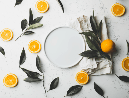 oranges on a kitchen table