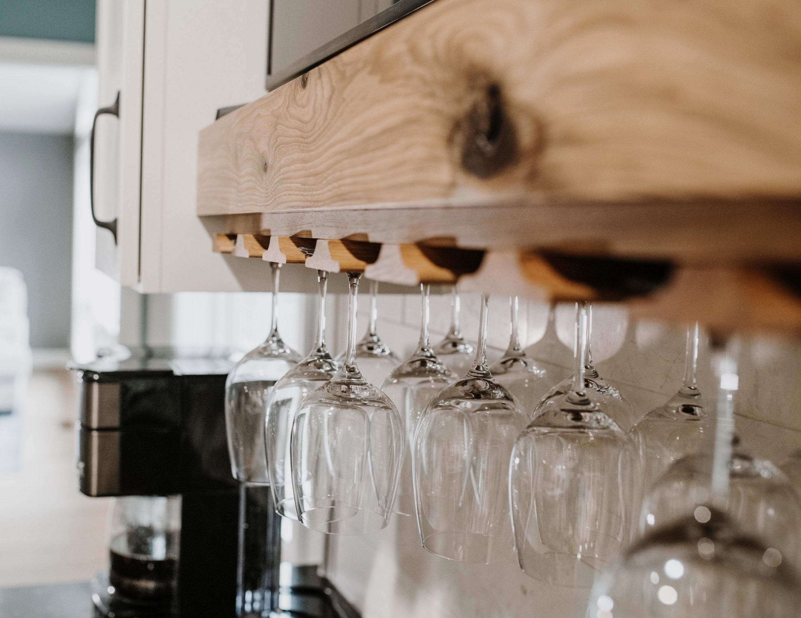 Beverage Center in Rustic Ranch Home