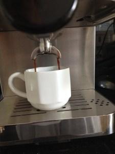 Inspiring Kitchen Capresso ECPRO espresso machine brewing espresso