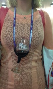 Inspiring Kitchen Chicago Gourmet wine glass on a string