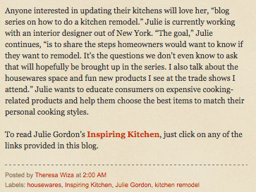 Press inspiring Kitchen Your blog Connection