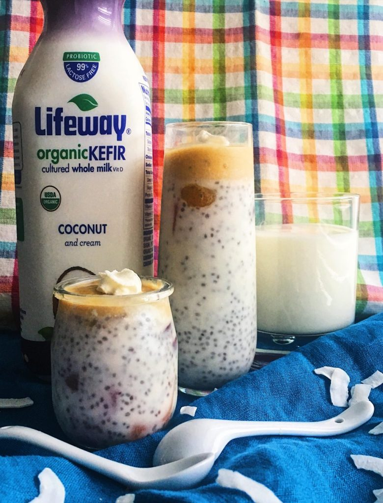 Tropical Kefir Chia Pudding with Mango and Coconut