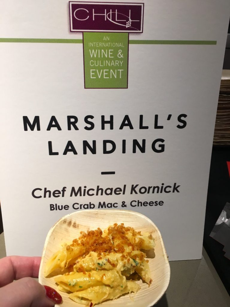 LuxeHome Chill 2017: Food, Wine and Kitchen Design marshalls landing blue crab mac and cheese