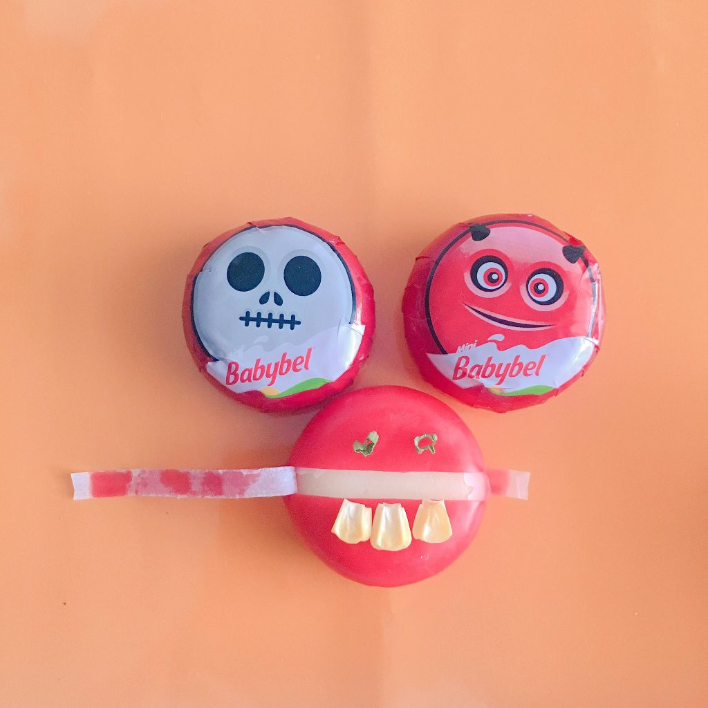 Dippable Halloween Snacks with Mini Babybel Cheese