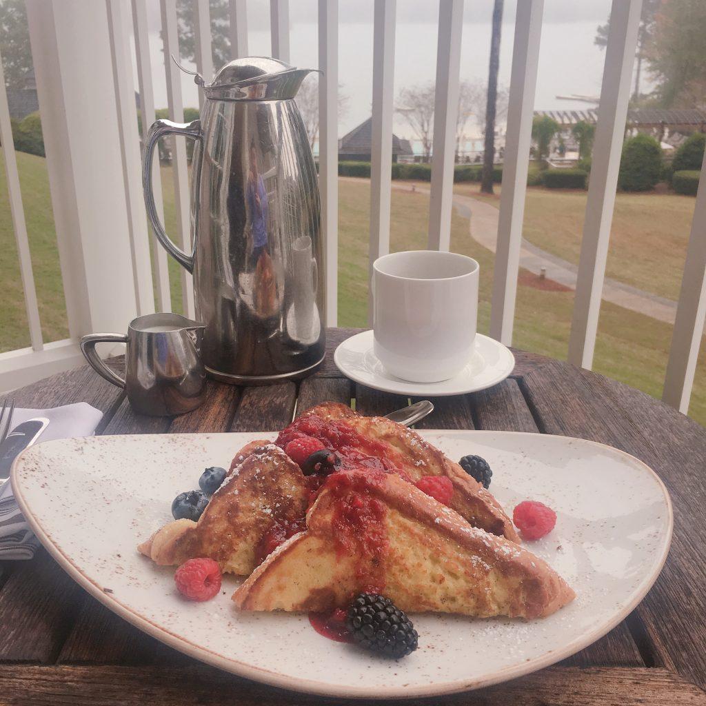 Ritz Carlton Reynolds Lake Oconee balcony breakfast