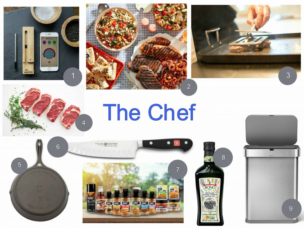 The Chef kitchen tools and food