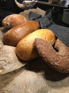 rye bread with hole