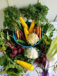 veggies focaccia art