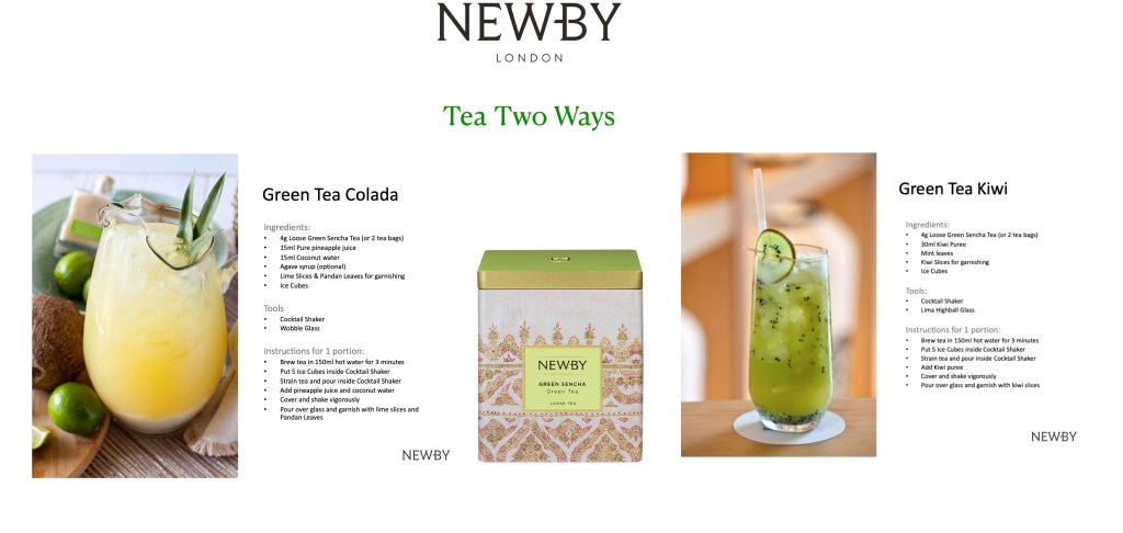 newby tea mocktails