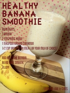 Healthy & Sweet Banana Smoothie Recipe