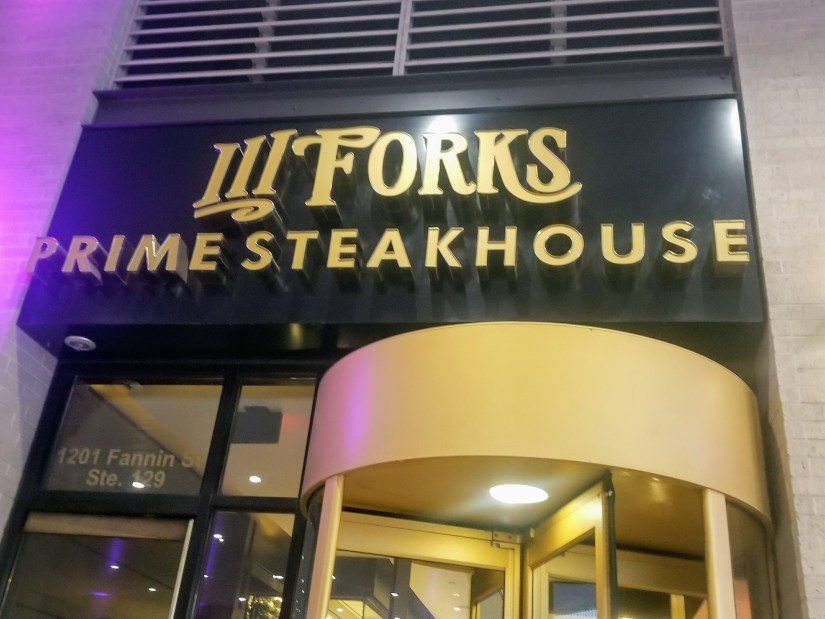 Date Night Ideas in Houston: 3 Forks Steakhouse in Greenstreet Downtown Houston