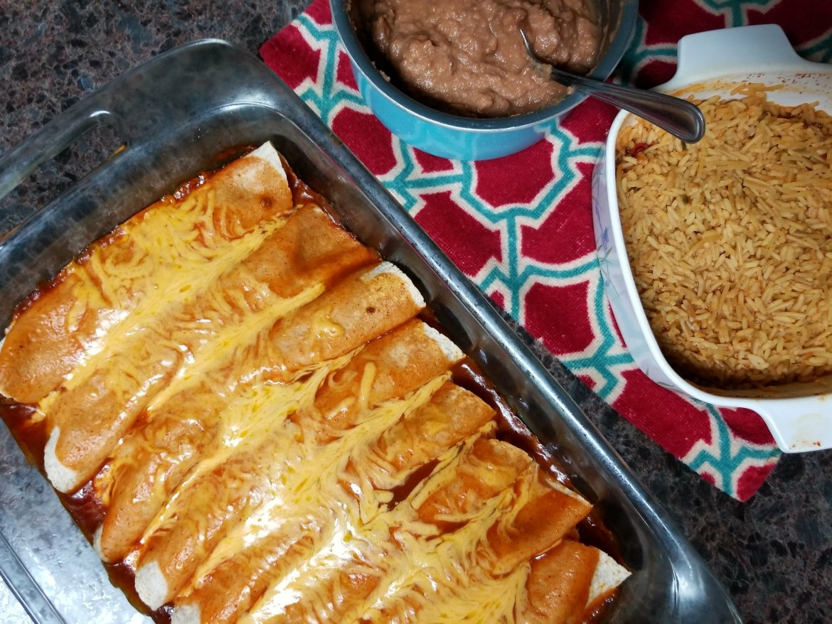You will love these easy beef enchiladas that are quick and easy and on the table in no time at all!