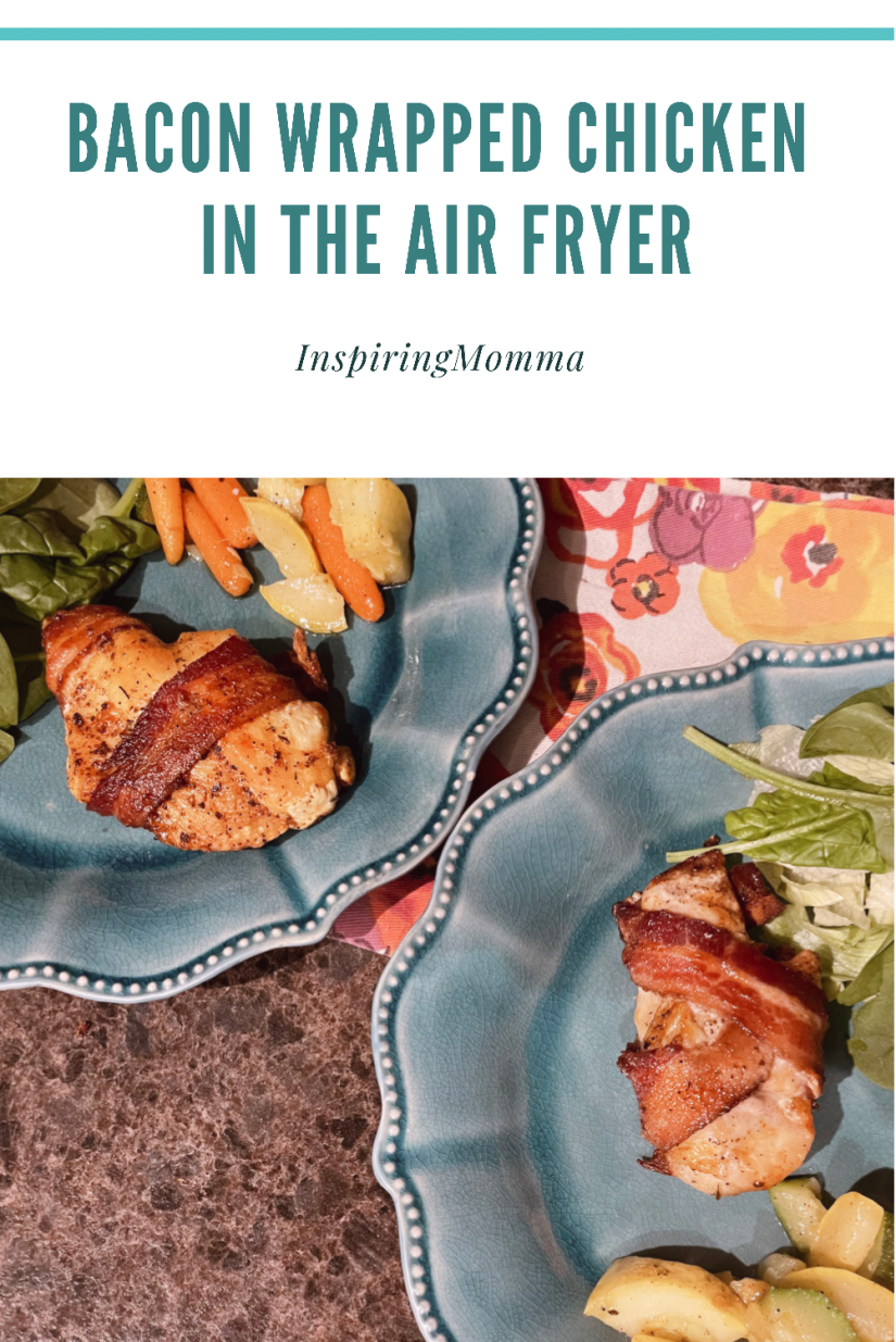 Air Fryer Bacon Wrapped Chicken (Low Carb)