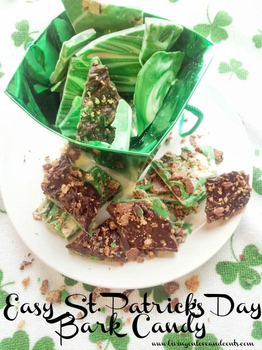 St. Patrick's Day, candy recipe, bark recipe, chocolate recipes, easy bark recipe