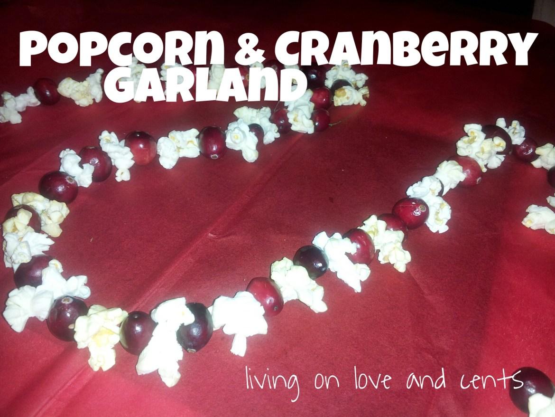 popcorn, garland, homemade, christmas