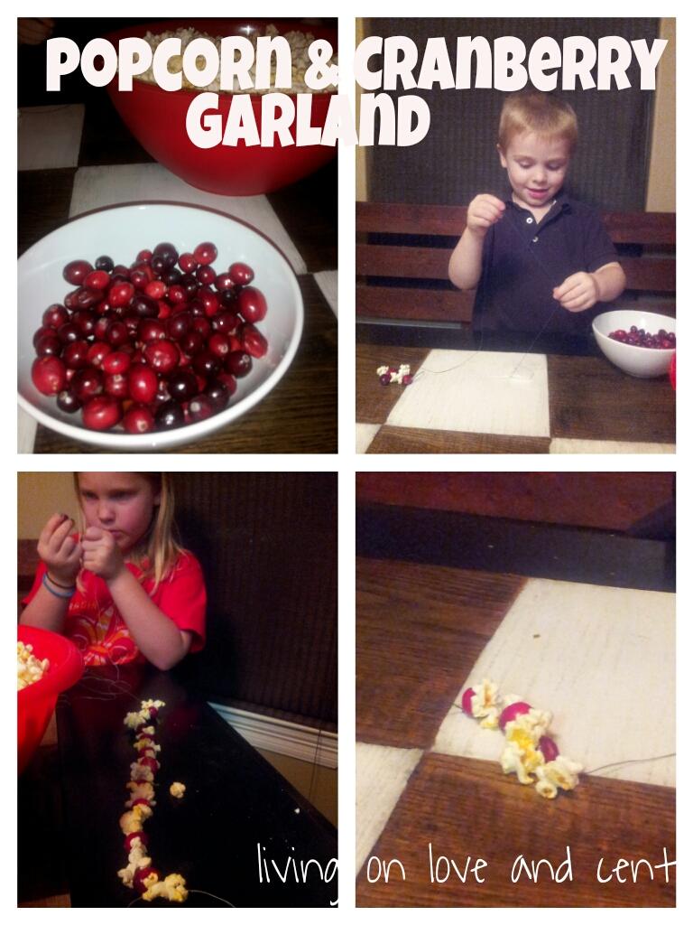 Popcorn and Cranberry Garland
