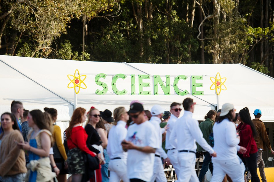 Science Tent activities at Splendour In The Grass 2018.