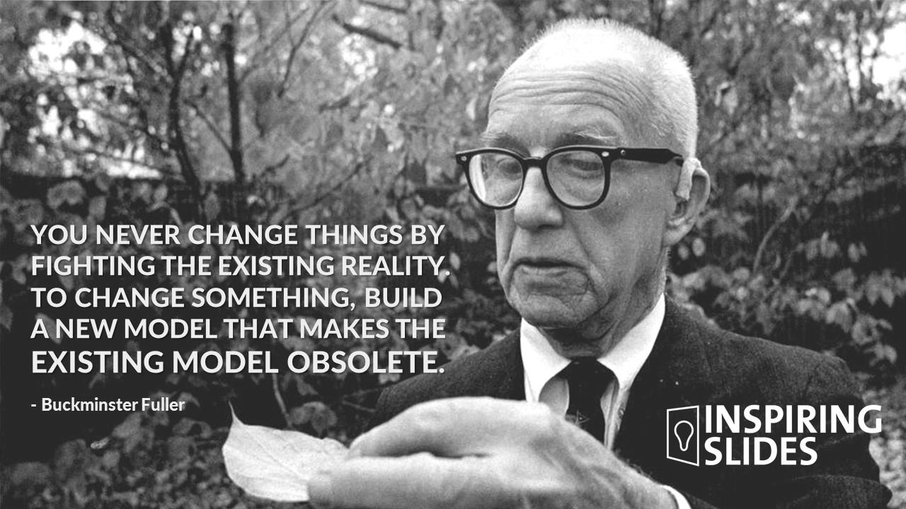 Buckminster Fuller, Powerpoint Slide, Template, Professional Powerpoint,  Slide Design,