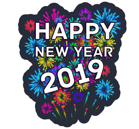Happy New Year 2019 Stickers for Hike