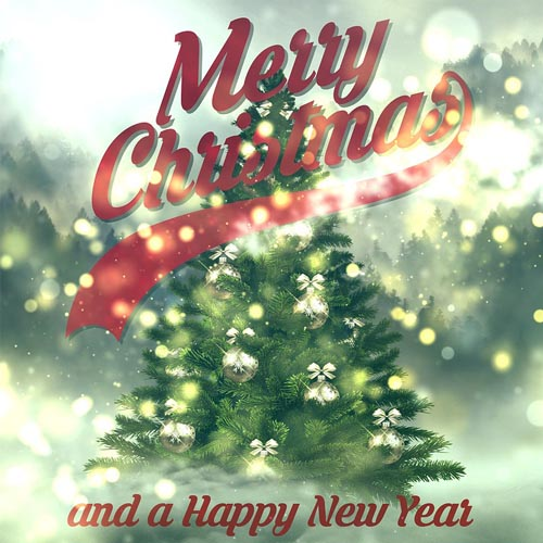 merry christmas and happy new year greeting words
