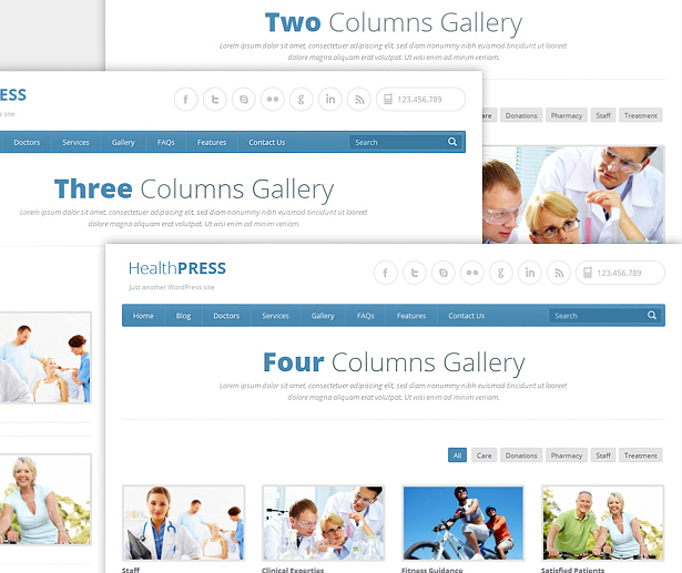 Various Gallery Templates