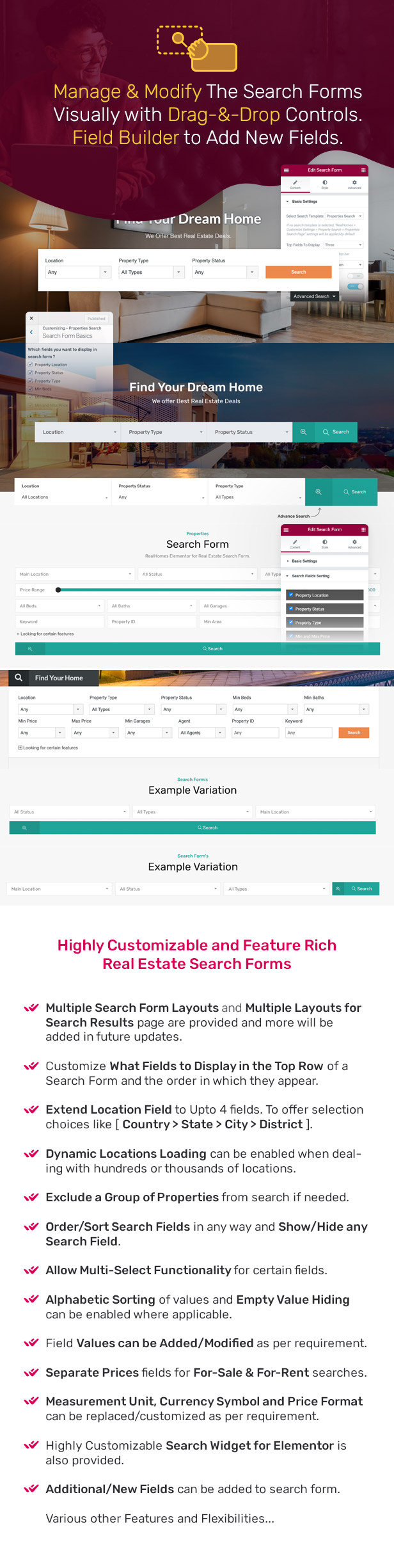 Highly customizable real estate search.