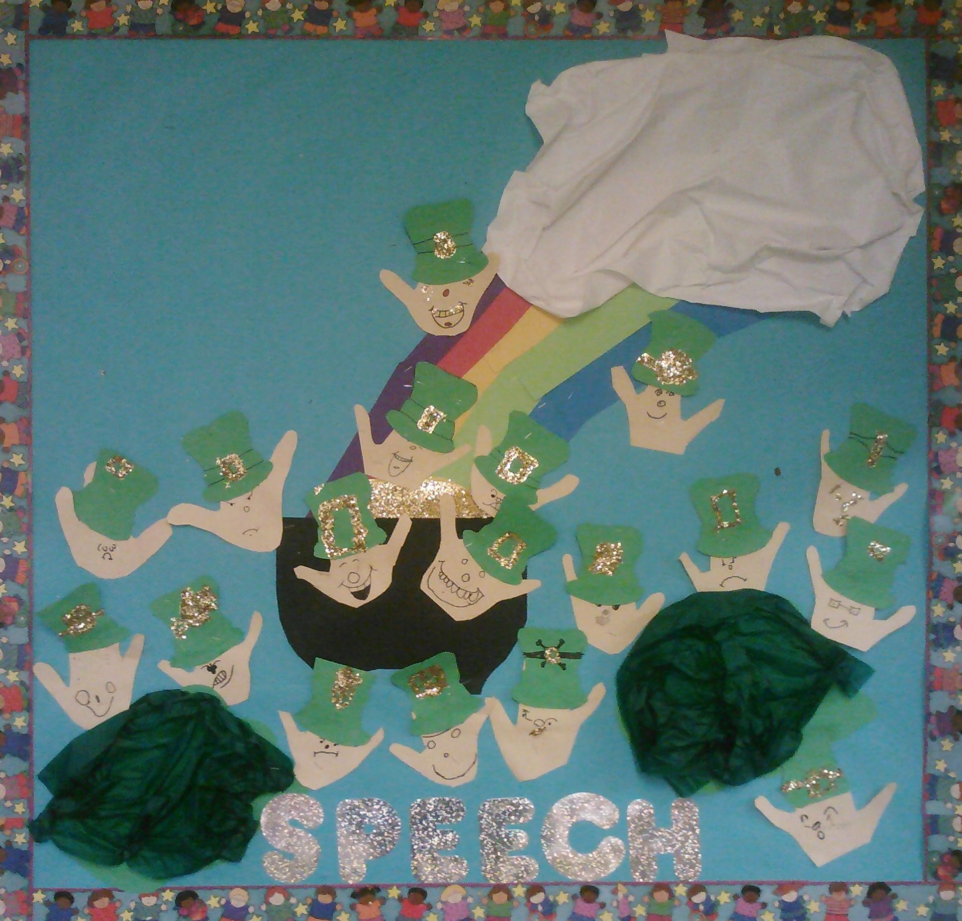 March Expressions Bulletin Board In Spontaneous Speech