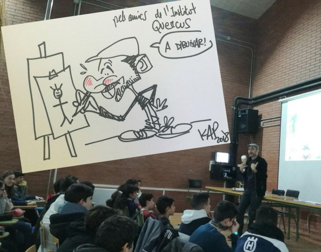 dibuixant còmics amb en Kap