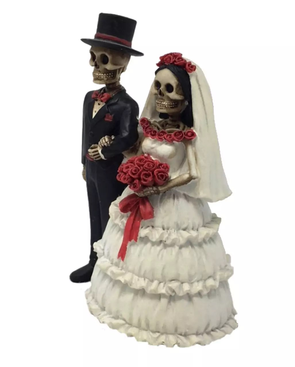 Skelett Hochzeitspaar 14 cm als Gothic Deko  Karneval Universe
