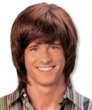 mens wig mullet brown -70s