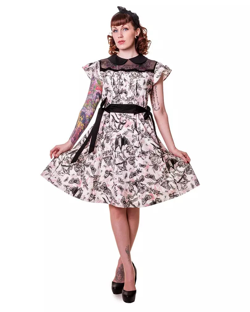 petticoat dress with butterfly