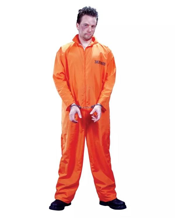 Prisoner Costume Convict Jumpsuit