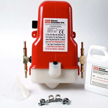 24 VOLT MOTOR PUMP WITH BRASS TEES FOR 4 CYLINDERS & HOSES-0