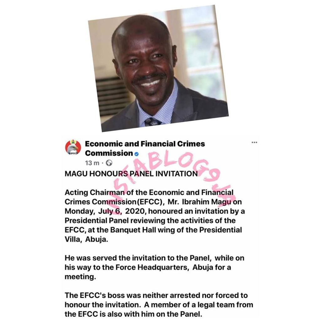 EFCC reacts as DSS Denies Arresting its Boss, Ibrahim Magu .